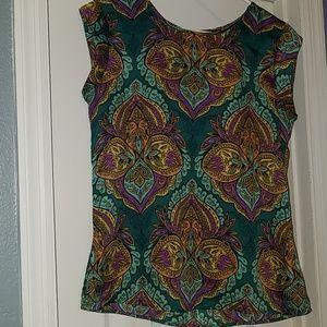 The Limited Ladies multi color blouse size Medium.
